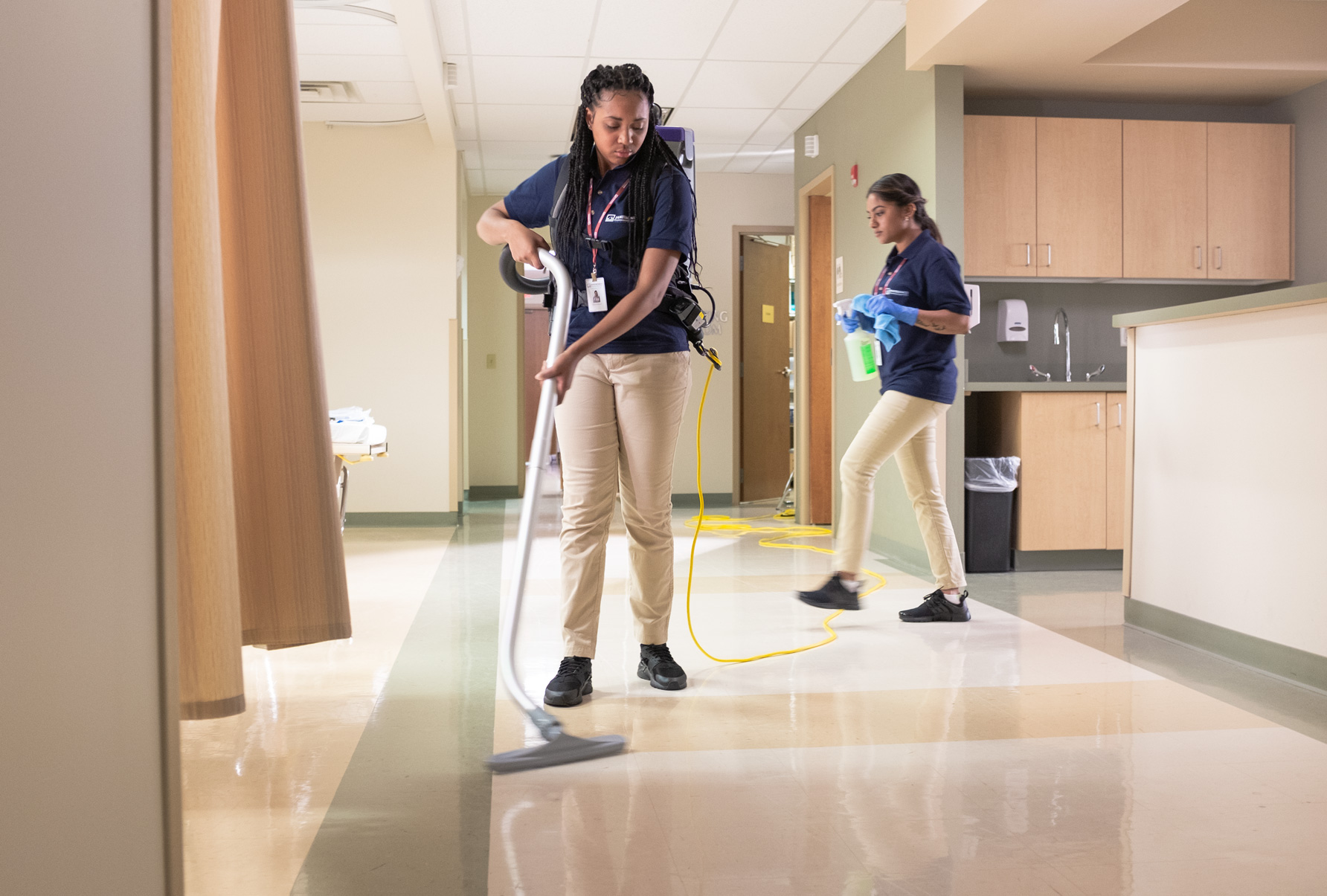 Janitronics team cleaning medical facility